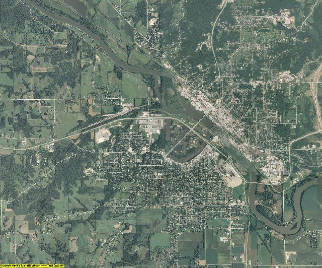 Wapello County, Iowa aerial photography