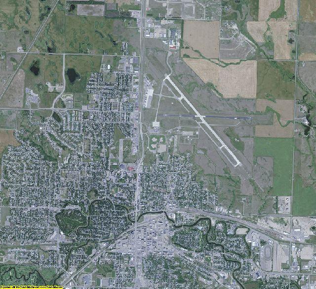 Ward County, North Dakota aerial photography