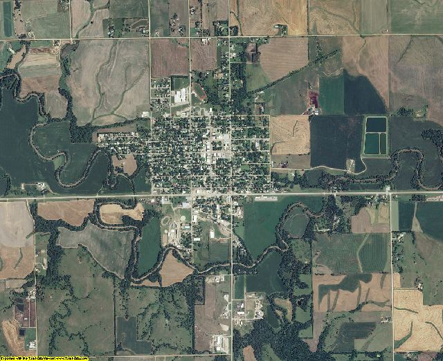 Washington County, Kansas aerial photography