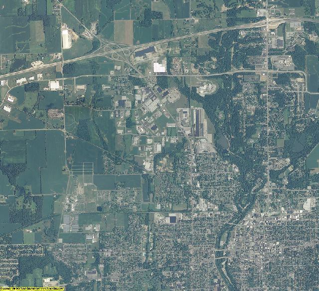 Wayne County, Indiana aerial photography