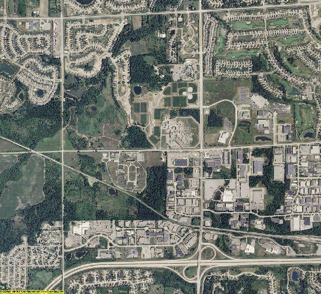 Wayne County, Michigan aerial photography