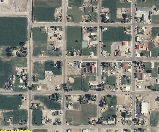 Wayne County, UT aerial photography detail