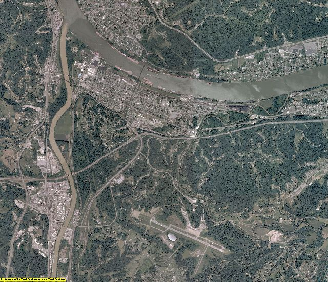 Wayne County, West Virginia aerial photography