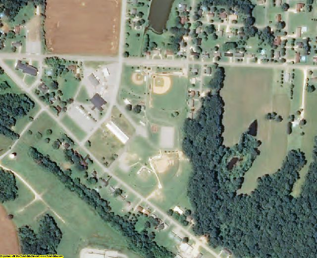 Weakley County, TN aerial photography detail