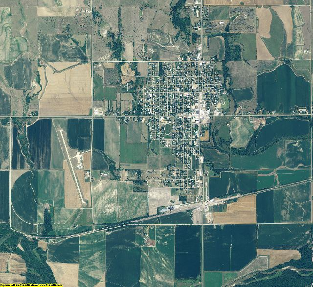 Webster County, Nebraska aerial photography