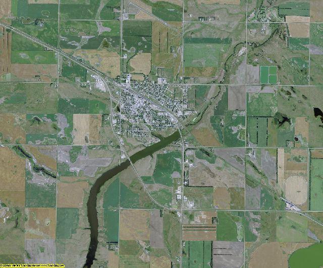Wells County, North Dakota aerial photography