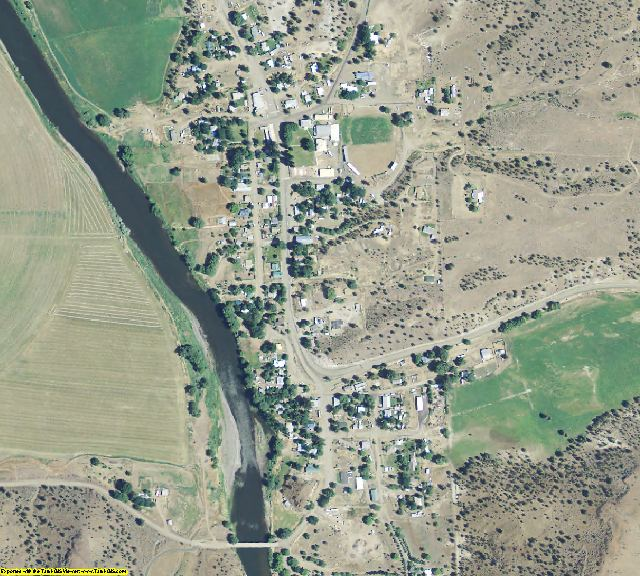 Wheeler County, OR aerial photography detail
