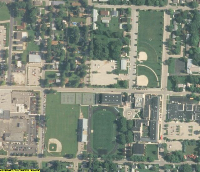 Whiteside County, IL aerial photography detail