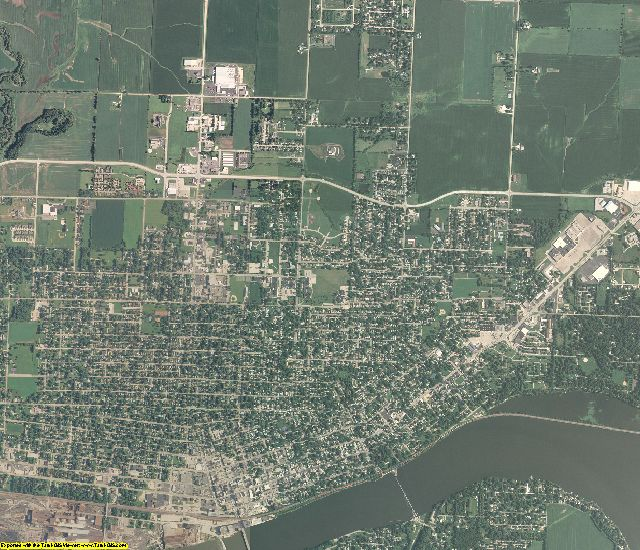 Whiteside County, Illinois aerial photography