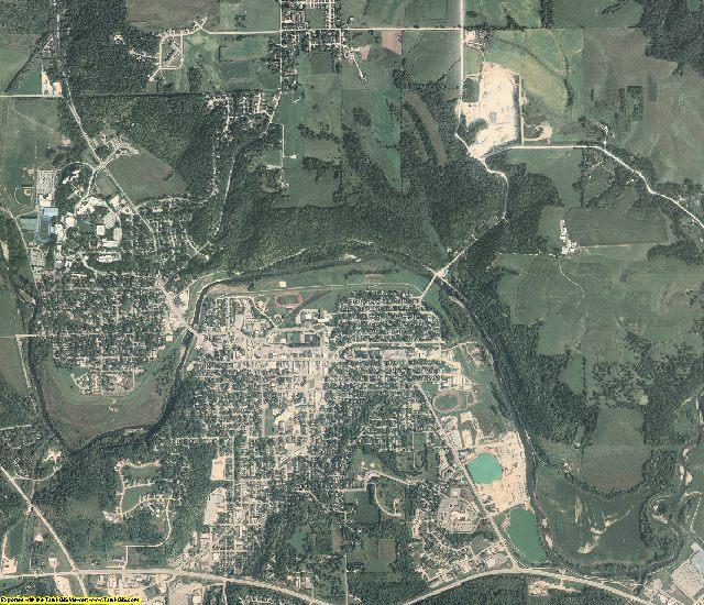 Winneshiek County, Iowa aerial photography