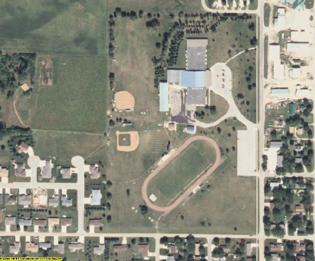 Worth County, IA aerial photography detail