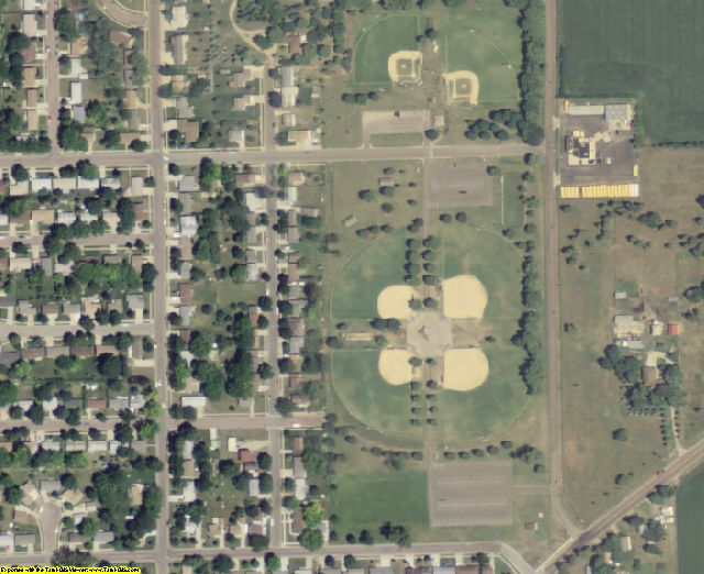 Yankton County, SD aerial photography detail