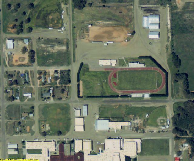 Yoakum County, TX aerial photography detail