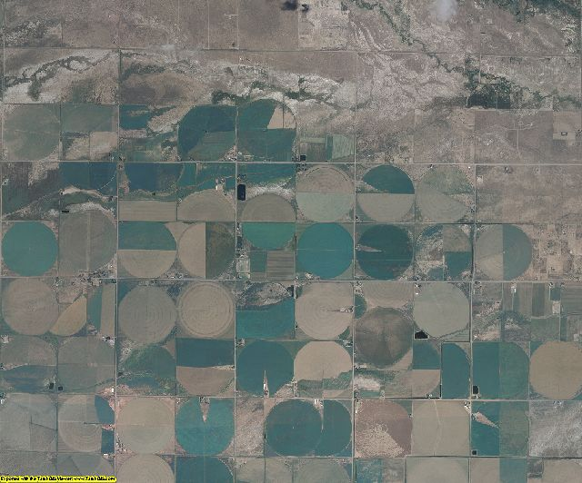 Alamosa County, Colorado aerial photography