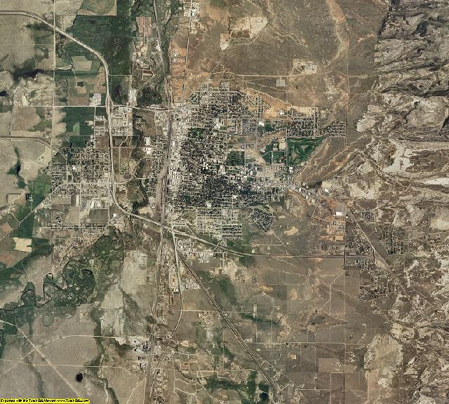 Albany County, Wyoming aerial photography