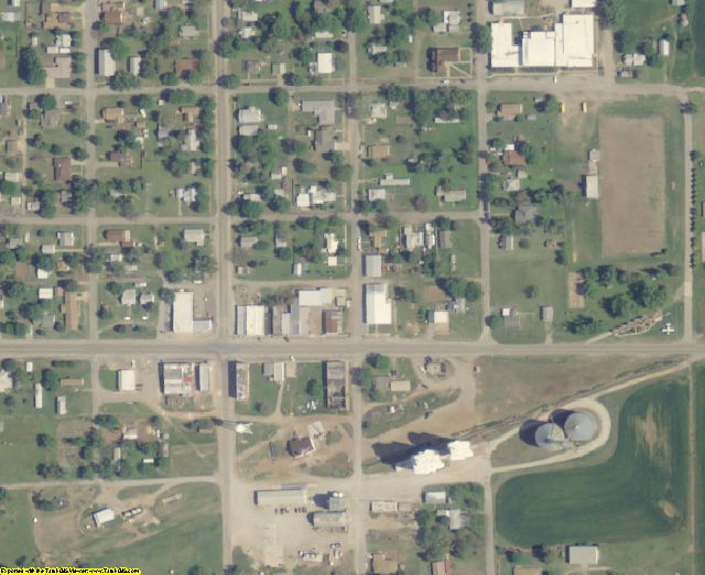 Alfalfa County, OK aerial photography detail