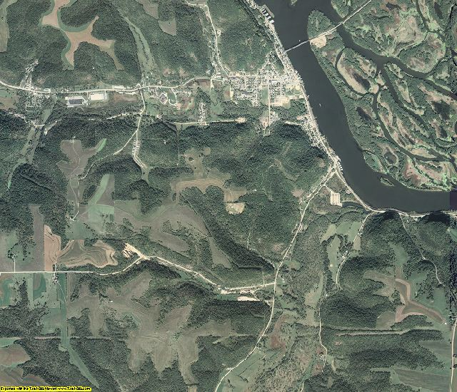Allamakee County, Iowa aerial photography