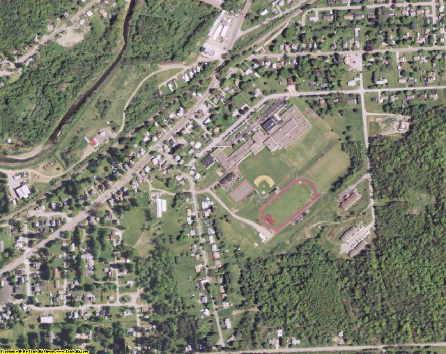 Allegany County, NY aerial photography detail