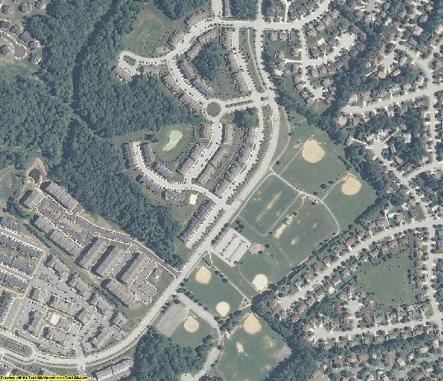 Anne Arundel County, MD aerial photography detail