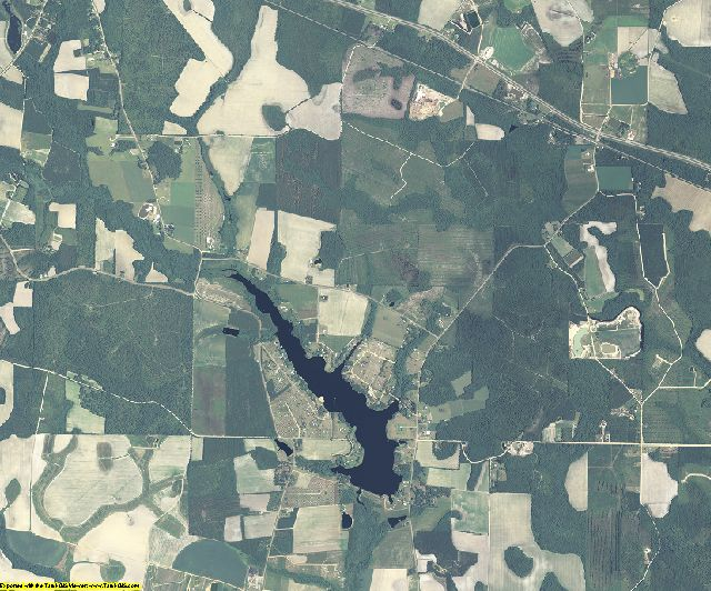 Appling County, Georgia aerial photography