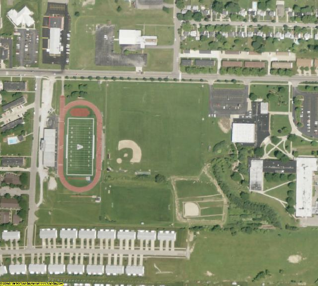 Ashland County, OH aerial photography detail