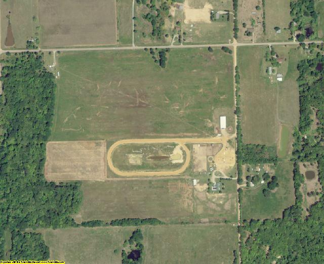 Atoka County, OK aerial photography detail