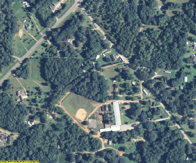 Baker County, GA aerial photography detail