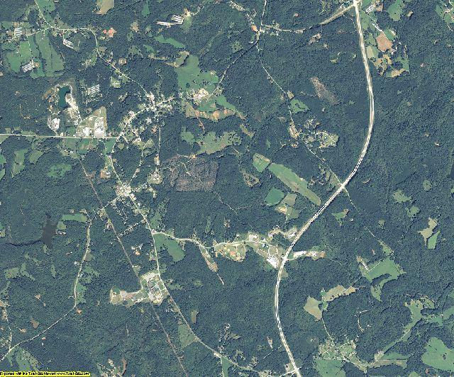 Banks County, Georgia aerial photography
