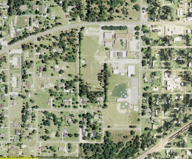 Beauregard County, LA aerial photography detail