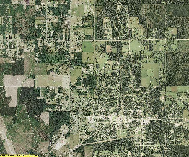 Beauregard County, Louisiana aerial photography