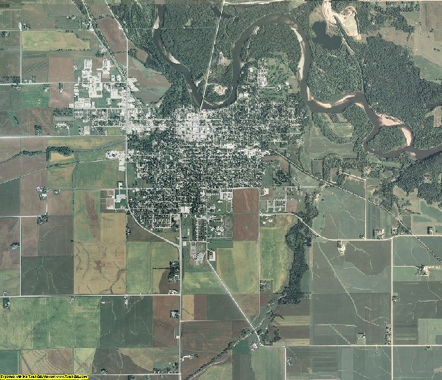 Benton County, Iowa aerial photography