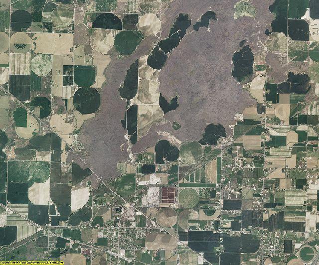 Bingham County, Idaho aerial photography