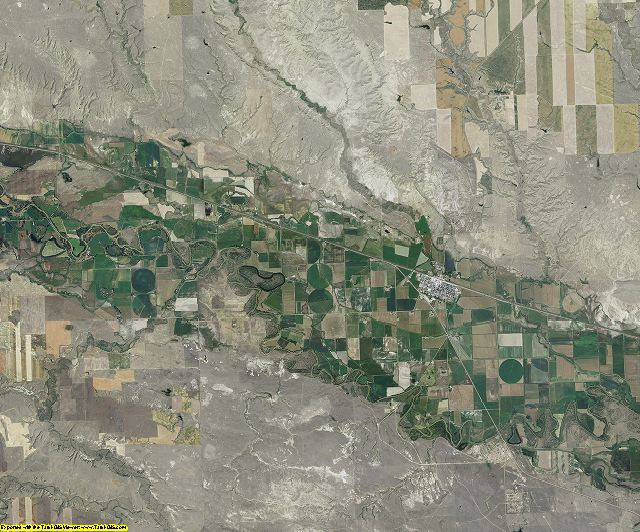 Blaine County, Montana aerial photography