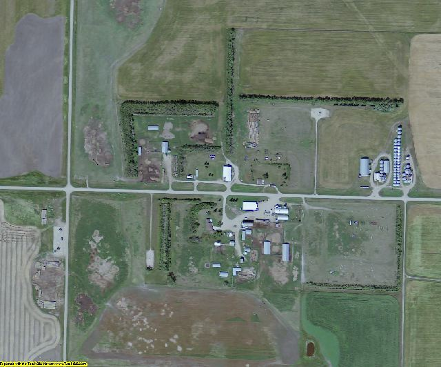 Bottineau County, ND aerial photography detail