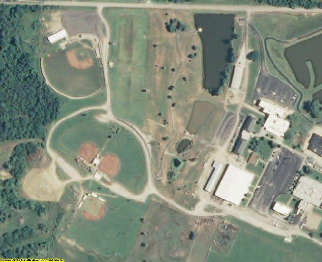 Bourbon County, KS aerial photography detail