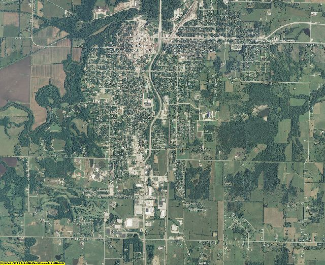 Bourbon County, Kansas aerial photography