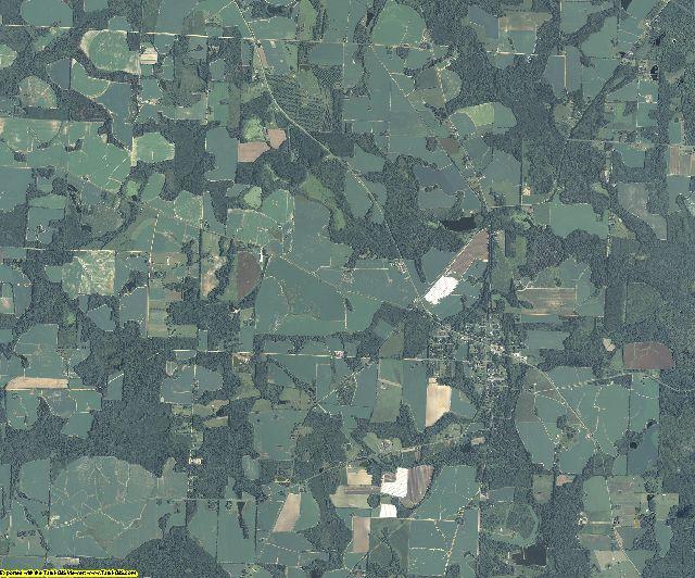 Brooks County, Georgia aerial photography