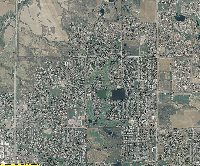 Broomfield city County, Colorado aerial photography