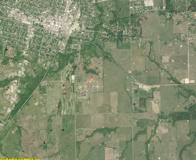 Bryan County, Oklahoma aerial photography