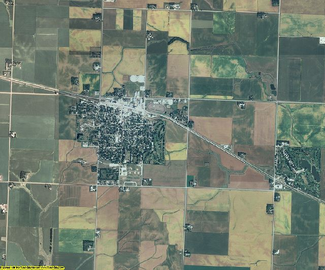 Buena Vista County, Iowa aerial photography