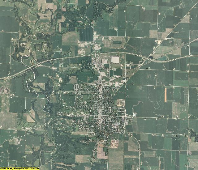 Bureau County, Illinois aerial photography
