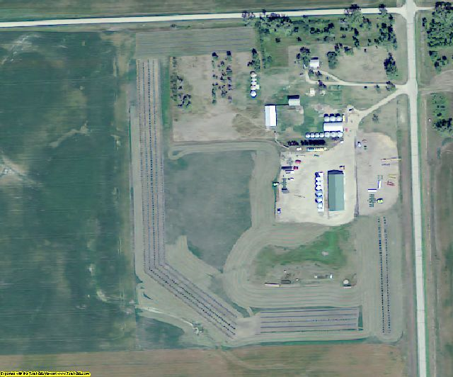 Burke County, ND aerial photography detail