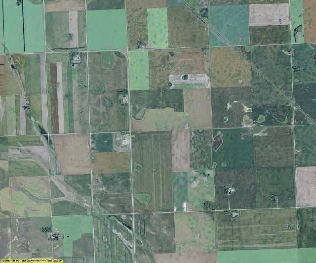 Burke County, North Dakota aerial photography