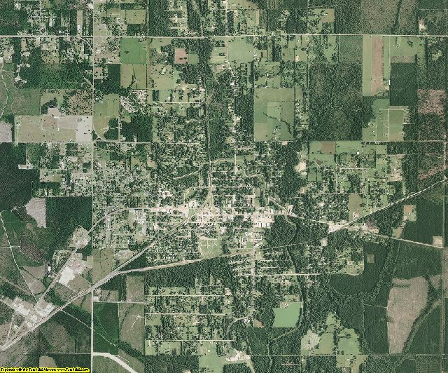 Calcasieu County, Louisiana aerial photography