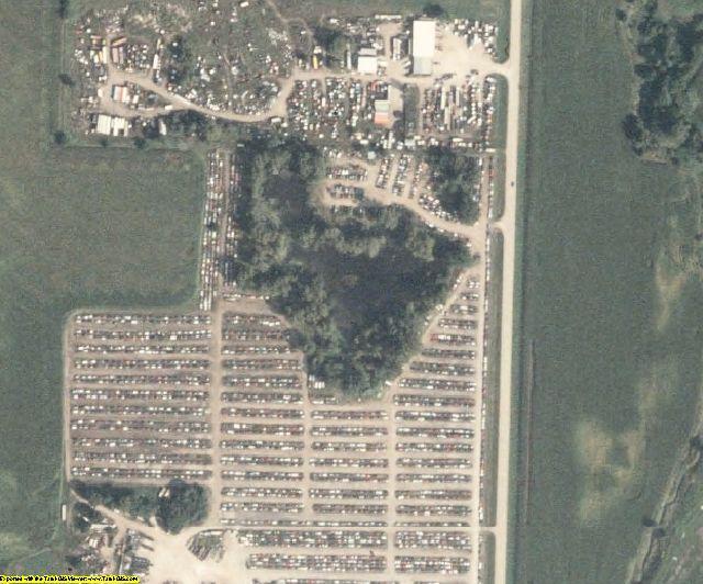 Carroll County, IA aerial photography detail