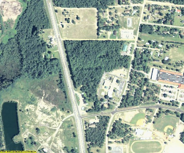 Charlton County, GA aerial photography detail