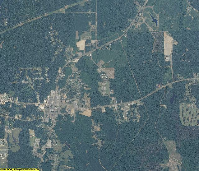 Choctaw County, Alabama aerial photography