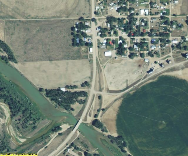 Chouteau County, MT aerial photography detail