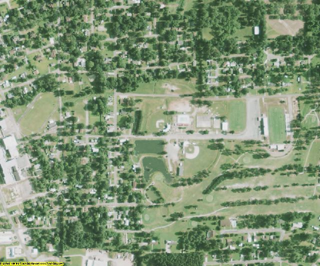 Claiborne County, LA aerial photography detail