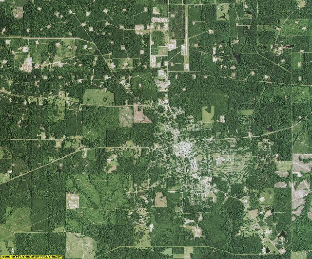 Claiborne County, Louisiana aerial photography